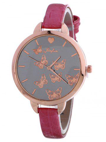 Buy Faux Leather Butterfly Quartz Watch