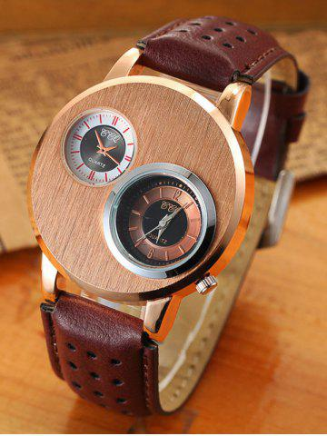 Shop Big Case Analog Watch with Double Dial