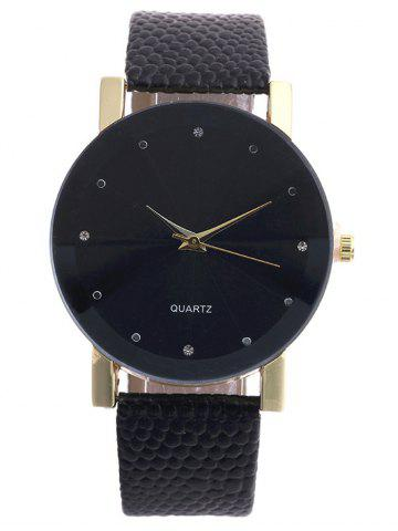 Outfits Snakeskin Pattern Faux Leather Analog Watch