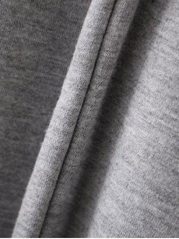 Online Bell Sleeve Pullover Hoodie - M GRAY Mobile