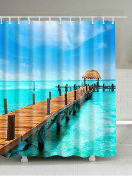 Sea Scenery Waterproof Mouldproof Bath Curtain
