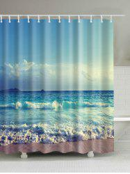 Ocean Print Waterproof Mouldproof Shower Curtain