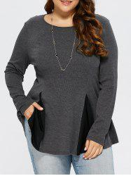Plus Size Two Tone Peplum T-Shirt