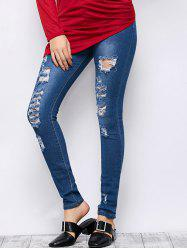 Mid Rise Ripped Skinny Jeans -