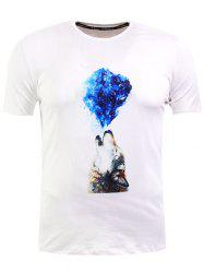 Wolf Print Short Sleeve T-Shirt -