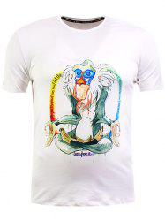 Monkey Print Short Sleeve T-Shirt