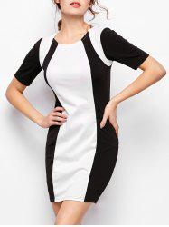 Color Block Bodycon Dress