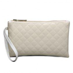 Patent Leather Rhombic Wristlet - OFF-WHITE