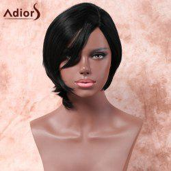 Adiors Short Asymmetry Side Parting Silky Straight Bob Synthetic Wig