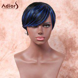 Adiors Short Side Parting Highlight Silky Straight Bob Synthetic Wig