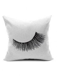 Concise Eyelash Pattern Velboa Throw Pillow Case