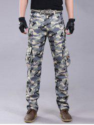 Pockets Camo Zipper Fly Cargo Pants
