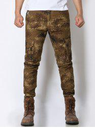 Pockets Design Camo Zip Fly Army Cargo Pants