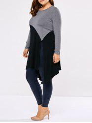 Plus Size Side Slit Asymmetric T-Shirt