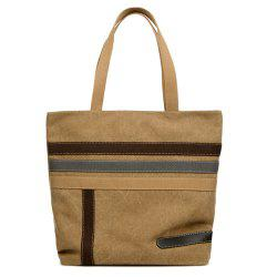 Stripes Canvas Shoulder Bag