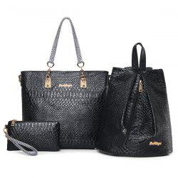 Faux Leather Crocodile Embossed Shoulder Bag