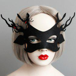 Spider Lacing Party Mask - BLACK