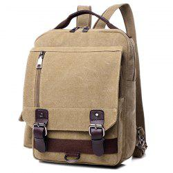 Canvas Buckle Straps Convertible Backpack -
