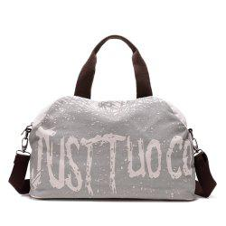 Canvas Graphic Printed Weekend Bag