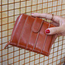 Stitching Bi Fold Faux Leather Small Wallet