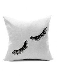 Eyelash Pattern Car Sofa Cushion Cover Pillow Case