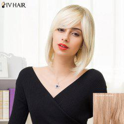 Siv Hair Medium Inclined Bang Silky Straight Bob Human Hair Wig