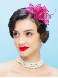 Fascinator Cocktail Hairband Flax Hat - TUTTI FRUTTI