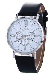 Faux Leather Roman numeral Analog Watch