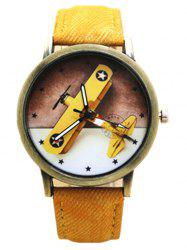 Cartoon Airplane Quartz Watch