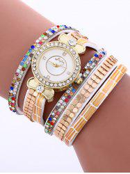 Layered Studded Analog Bracelet Watch
