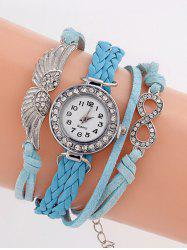 Layered Braided Quartz Bracelet Watch