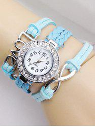Love Braided Quartz Bracelet Watch