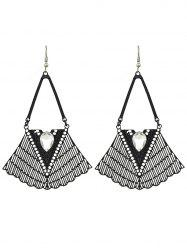 Faux Gem Geometric Vintage Drop Earrings