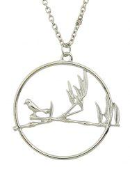 Bird Circle Pendant Necklace