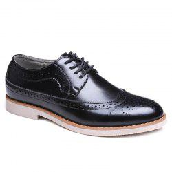 Wingtip PU Leather Formal Shoes - BLACK 41