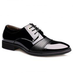 Pointed Toe Patent Leather Formal Shoes - BLACK 42