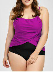 Plus Size Ruched Padded Swimwear