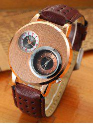 Big Case Analog Watch with Double Dial