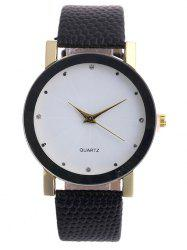 Snakeskin Pattern Faux Leather Analog Watch