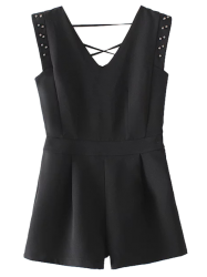 Sleeveless Studded Romper -