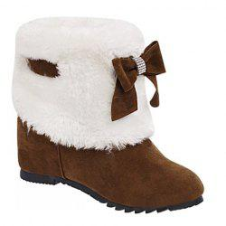 Wedge Heel Furry Snow Boots