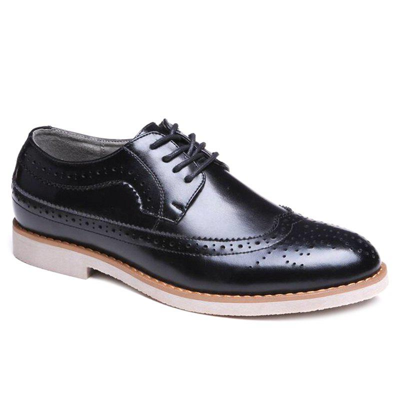 Shops Wingtip PU Leather Formal Shoes