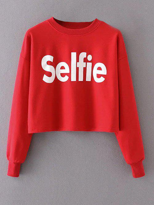 Outfits Cropped Selfie Graphic Sweatshirt