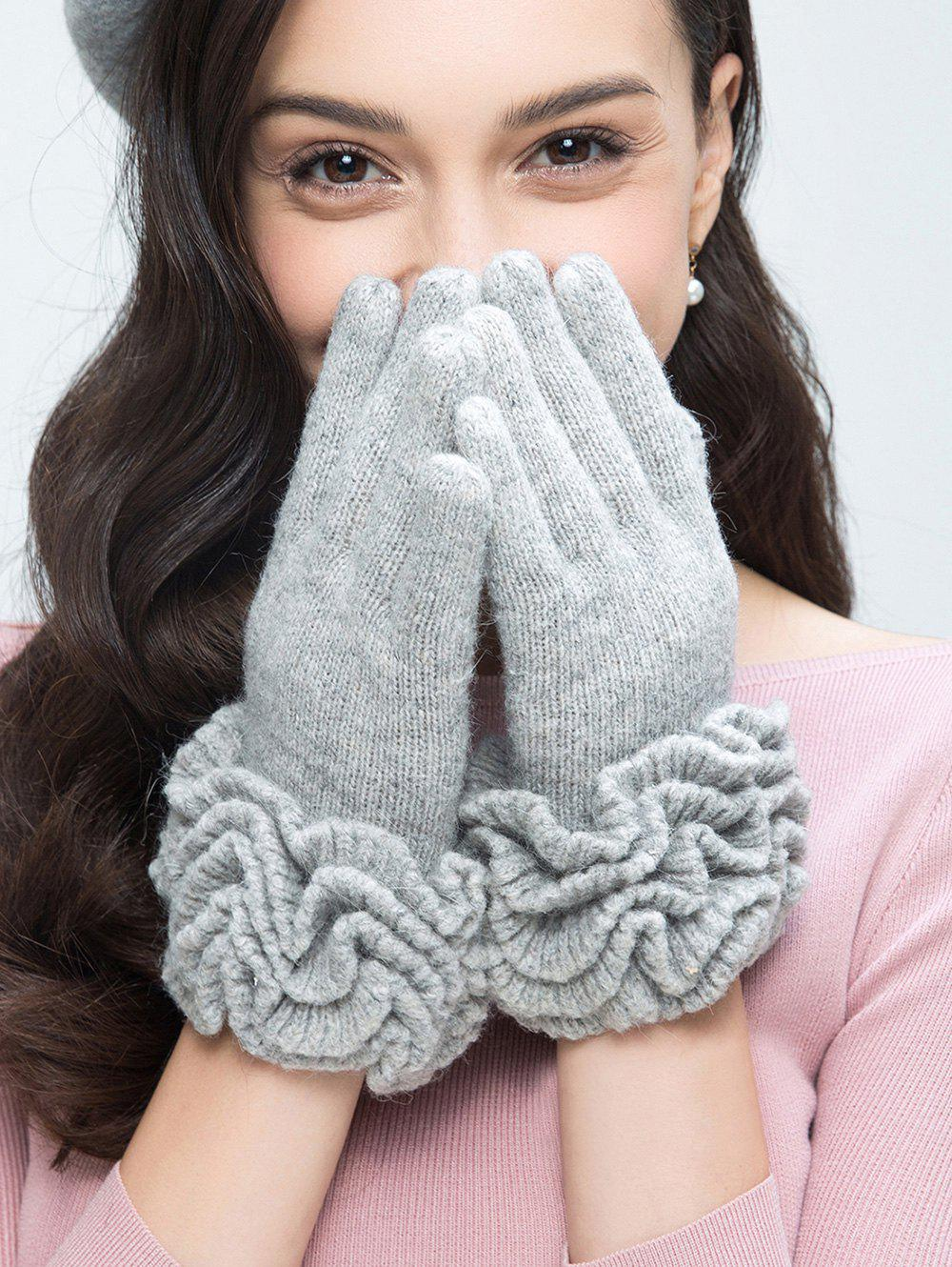 Buy Wool Gloves with Flouncing