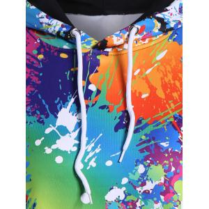 Splatter Paint Plus Size Hoodie - BLACK 3XL