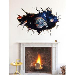 Removable 3D Space Astronaut Bedroom Wall Sticker -