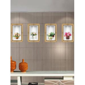 4 Pcs/Set 3D Simulation Vase Photo Frame Wall Sticker