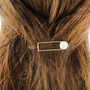 Faux Gem Rectangle Hollow Out Hairpin