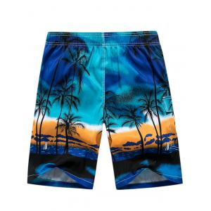 3D Coconut Tree Print Board Shorts -