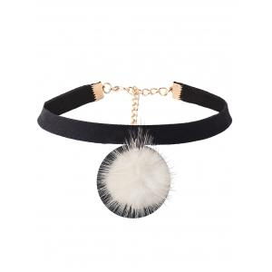 Pom Ball Velvet Choker Necklace